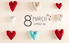 Wallpaper hearts, happy, March 8, heart, romantic, gift, Women's Day