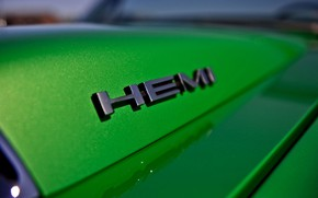 Picture Muscle, Cars, Green, Logo, Old, Hemi