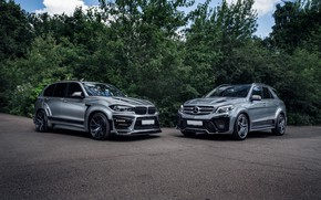Picture BMW, Mercedes, X5M, RENEGADE