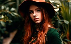 Picture piercing, hat, the beauty, Anna, Maks Kuzin