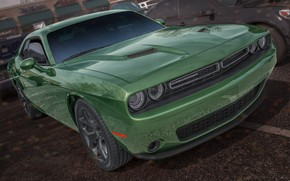 Picture green, Dodge, Challenger
