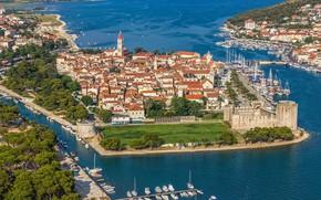 Picture sea, the city, Croatia, Adriatica, Croatia, Trogir, Trogir, the UNESCO world heritage site