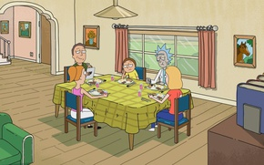 Picture cartoon, the series, the cartoon series, Rick and Morty, Rick and Morty