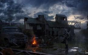 Picture Stalker, area, Chernobyl, Concept, Art, Stalker, Pripyat, art, Stalkers