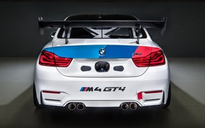 Picture racing car, rear view, 2018, GT4, BMW M4