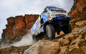 Wallpaper The sky, Sand, Nature, Mountains, Rocks, Sport, Speed, Wheel, Stones, Truck, Race, Master, Beauty, Russia, ...