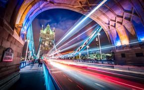 Wallpaper excerpt, the city, London, England, UK, light, bridge