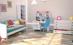 Picture design, style, children's room, Medel