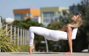 Picture summer, girl, pose, flexibility, yoga, legs