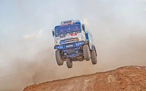 Wallpaper Race, KAMAZ, In the air, Sport, Speed, Master, Russia, Jump, Redbull, Flies, Master, Truck, Best, ...