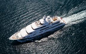 Picture sea, superyacht, Titania, Motor Yacht