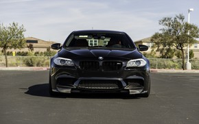 Picture BMW, Front, Black, F10, LED