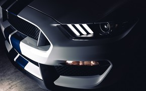 Picture Mustang, Ford, Shelby, White, LED