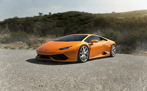 Wallpaper Italia, Asphalt, VAG, Lamborghini, Yellow, Huracan, Green
