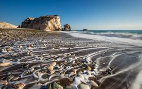 Picture sea, rocks, coast, Cyprus, Cyprus, Paphos District