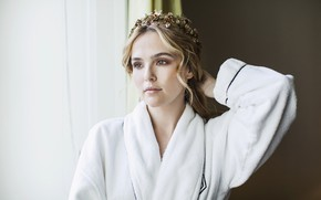 Picture look, girl, sweetheart, hairstyle, Bathrobe, Zoey Deutch