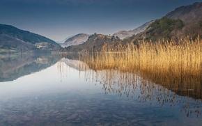 Picture mountains, lake, Wales, Llyn Gwynant