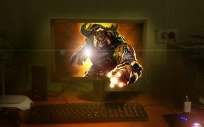 Picture Monitor, Doom, Invasion, The cyber demon
