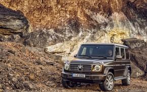 Picture stones, Mercedes-Benz, brown, 2018, G-Class, quarry