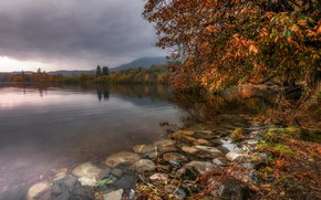 Picture autumn, lake, Lake District, Cumbria