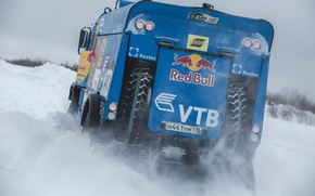 Picture Winter, Snow, Truck, Master, Day, Russia, Kamaz, Rally, KAMAZ, Power, Cold, RedBull, Master, The Arctic