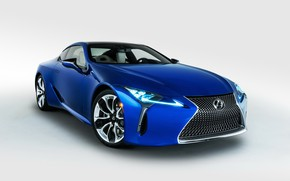 Picture machine, Lexus, white background, blue color