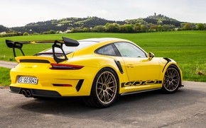 Picture 911, Porsche, rear view, 2018, GT3 RS, Weissach Package