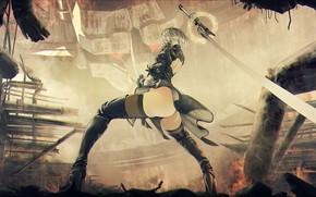 Picture Girl, Ass, The game, Fire, Girl, Sword, Feet, Fire, Legs, Art, Ass, Sexy, Art, Sexy, ...