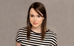 Picture eyes, actress, brunette, lips, Ellen Page, Ellen Page
