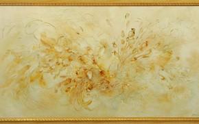 Picture flowers, yellow, picture, Golden, Still life, Sfumato, gift painting, Petrenko Svetlana, autumn style