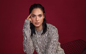 Picture look, girl, photo, jacket, Glamour, Gal Gadot