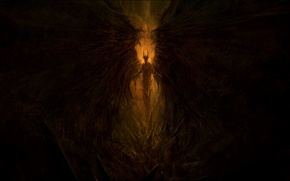 Picture darkness, wings, the demon, dark, demon, Hell, the devil, devil, hell