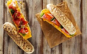 Picture cheese, bread, sandwich, bacon, ham