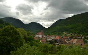 Picture France, Mountains, Panorama, France, Mountains, Panorama, Urbes, Urbes