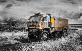 Picture The sky, Nature, Sport, Speed, Clouds, Truck, Race, Master, Beauty, Russia, Beast, Kamaz, Rally, Rally, …