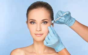 Picture model, face, surgeries