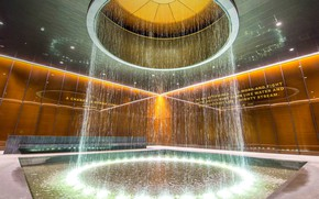 Wallpaper USA, fountain, National Museum of African American history and cul, Washington