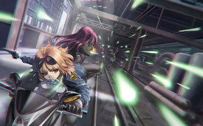Picture weapons, girls, Motorcycle, shooting, The tunnel, Girls Frontline