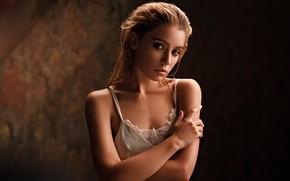 Picture look, girl, background, hands, Kseniya Kokoreva, Sergei Timashev