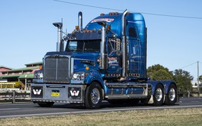 Wallpaper Trak, Western Star, Blue, Nightingale