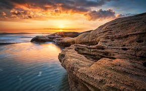 Picture stones, sunrise, rocks, magnificent, shore, sunset, sea, rocks, sunrise, nature, beach, seascape, beautiful, nature, landscape, …