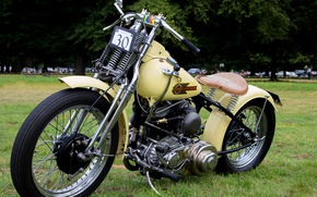 Picture retro, motorcycle, Harley Davidson