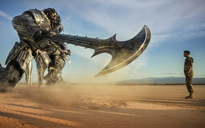 Picture cinema, robot, soldier, mecha, weapon, sand, movie, Transformers, film, suna, Transformers: The Last Knight