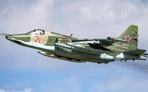 Picture Sukhoi, The Russian air force, Su-25БМ, Russian attack, armored subsonic military aircraft