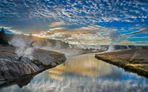Picture landscape, couples, Wyoming, USA, river Fairhall