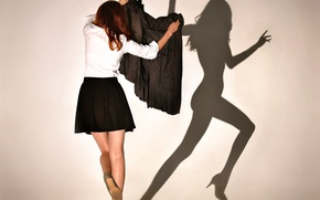 Picture girl, the game, shadow, Shadowplay