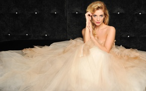 Wallpaper singer, Tatyana Kotova, dress, blonde