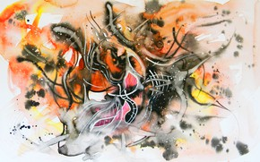 Picture ash, fire, flame, figure, oil, the fire, markers, gouache, Watercolor, acrylic, gel, pastel., Abstract, Lena …