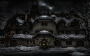Picture winter, snow, house, holiday, Austria, New Year, Christmas, architecture