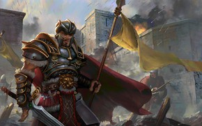 Picture warrior, fortress, arrows, commander, monarch